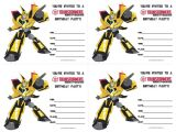 Transformer Birthday Invitations Templates Transformers Party Invitation Free Printable