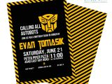 Transformer Birthday Invitations Transformers Birthday Invitation Digital File or by