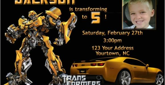 Transformer Party Invitations Free Printable Transformers Bumble Bee Birthday Party