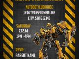Transformer Party Invitations Transformers Bumblebee Digital Birthday Invitation