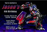 Transformer Party Invitations Transformers Invitations with Megatron and Optimus Prime