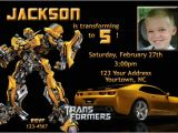 Transformer Party Invites Free Printable Transformers Bumble Bee Birthday Party