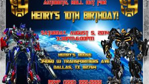 Transformer Party Invites Transformers Birthday Invitation
