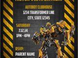 Transformer Party Invites Transformers Bumblebee Digital Birthday Invitation