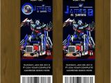 Transformers Party Invitations Free Printable Optimus Prime Transformers Printable Birthday Ticket