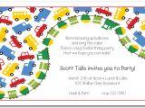 Transportation Birthday Party Invitations Primary Transportation Boys Birthday Party Invitations