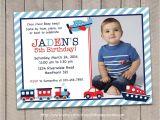 Transportation Birthday Party Invitations Transportation Invitation Transportation Birthday Invitation