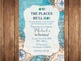 Travel themed Party Invitations Oh the Places You 39 Ll Go Birthday Invitation Map Birthday