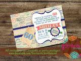 Travel themed Party Invitations Travel theme Milestone Birthday Invitation 30th 40th