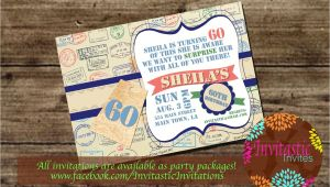 Travel themed Party Invitations Travel theme Milestone Birthday Invitation 30th 40th