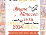 Travel themed Party Invitations Travel themed Bridal Shower Invitation