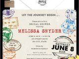 Travel themed Wedding Shower Invitations Bridal Shower Invitations Bridal Shower Invitations