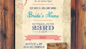 Travel themed Wedding Shower Invitations Travel Wedding Shower Invitation by Conteurco On Etsy