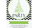 Tree Trimming Party Invitations Chevron Christmas Tree Trimming Party Invitation Zazzle