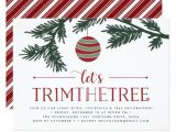 Tree Trimming Party Invitations Christmas Boughs Tree Trimming Party Invitation Zazzle