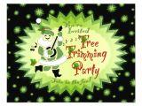 Tree Trimming Party Invitations Musical Santa Elf Tree Trimming Party Invitations 4 25 Quot X