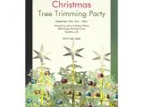 Tree Trimming Party Invitations Three Christmas Trees Tree Trimming Party 5×7 Paper