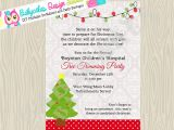 Tree Trimming Party Invitations Tree Trimming Party Christmas Party Invitation Invite
