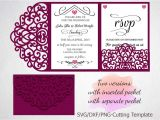 Tri Fold Quinceanera Invitations Tri Fold Wedding Invitation Pocket Enve Design Bundles