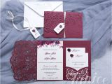 Tri Fold Wedding Invitations with Pocket Graceful Love Heart Tri Fold Laser Cut Pocket wholesale