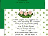 Triplet Baby Shower Invitations Baby Shower Invitations Wording for Triplets Rubber