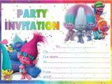 Trolls Birthday Invitation Template 10 X Trolls Birthday Party Invitations or Thank You Cards