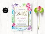 Tropical Bridal Shower Invitations Templates Tropical Bridal Shower Invitation Hawaiian Wedding Shower