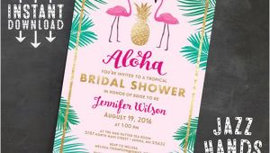 Tropical Bridal Shower Invitations Templates Tropical Bridal Shower Invitation Template