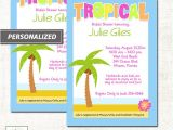 Tropical Bridal Shower Invitations Templates Tropical Palm Tree Beach theme Bridal Shower Invitatons