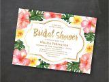 Tropical Bridal Shower Invitations Templates Tropical Printable Bridal Shower Invitation Template Luau