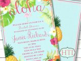 Tropical Bridal Shower Invitations Templates Unique Hawaiian Invitation Templates Free Luau
