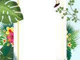 Tropical Party Invitation Template Flamingo Tropical Invitation Card Free Stock Photo