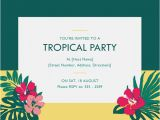 Tropical Party Invitation Template Flyers Office Com