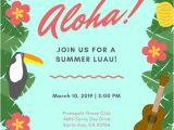 Tropical Party Invitation Template Luau Invitation Templates Canva