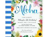 Tropical Party Invitation Template Watercolor Tropical Luau Birthday Party Invite Zazzle Com