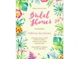 Tropical themed Bridal Shower Invitations Tropical Chic Bridal Shower Invitation Throw A Fun Summer