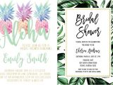 Tropical themed Bridal Shower Invitations Tropical themed Bridal Shower Invitations & Ideas