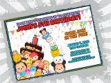 Tsum Tsum Party Invitations Tsum Tsum Birthday Invitation Tsum Tsum Party Tsum Tsum