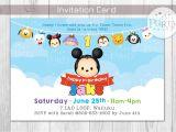 Tsum Tsum Party Invitations Tsum Tsum Inspired Birthday Invitation Digital Copy No