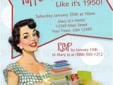 Tupperware Party Invitations Printable Diy 50 39 S Retro Housewife theme Tupperware Party