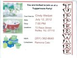 Tupperware Party Invitations Tupperware Party Invitation Wording