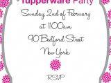 Tupperware Party Invitations Tupperware Party Invitations