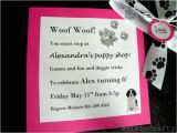Turning 10 Birthday Invitation Wording Aristocrafty Puppy Birthday Party