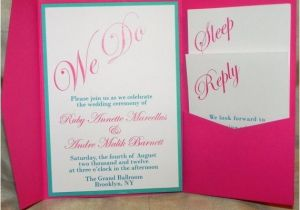 Turquoise and Hot Pink Wedding Invitations 17 Best Images About Hot Pink Wedding On Pinterest