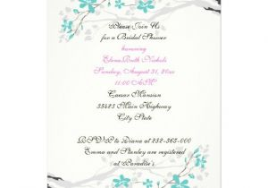 Turquoise and Hot Pink Wedding Invitations Flowers Turquoise Hot Pink Wedding Bridal Shower 5 Quot X 7