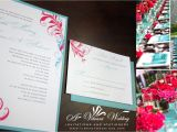 Turquoise and Hot Pink Wedding Invitations June 6 2013 A Vibrant Wedding