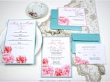 Turquoise and Hot Pink Wedding Invitations Wedding Blossoms Turquoise and Pink Wedding Inspiration