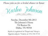 Turquoise Black and White Wedding Invitations Diy Bridal Shower Printable Invitation 5×7 Black White