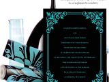 Turquoise Black and White Wedding Invitations Modern Black and Turquoise Wedding Invitation Idea