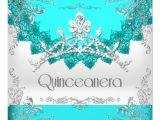 Turquoise Quinceanera Invitations Quinceanera 15th Turquoise White Tiara 15 Party 5 25